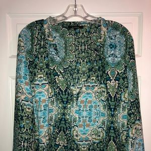 Gorgeous green and blue blouse